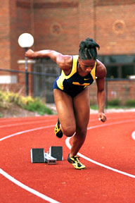 photo of female sprinter