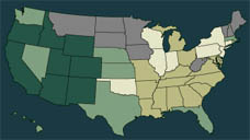 U.S. map demographics