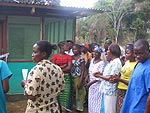 Opening ceremony for the new maternity waiting home in Yila, Liberia. Courtesy of Jody Lori